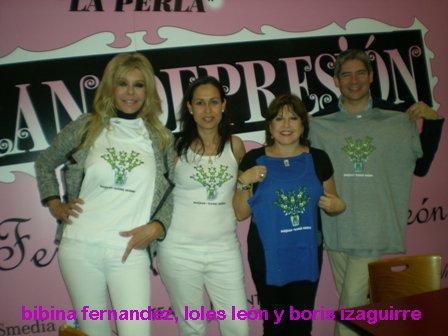 Bibiana Fernández, Loles León y Boris Izaguirre